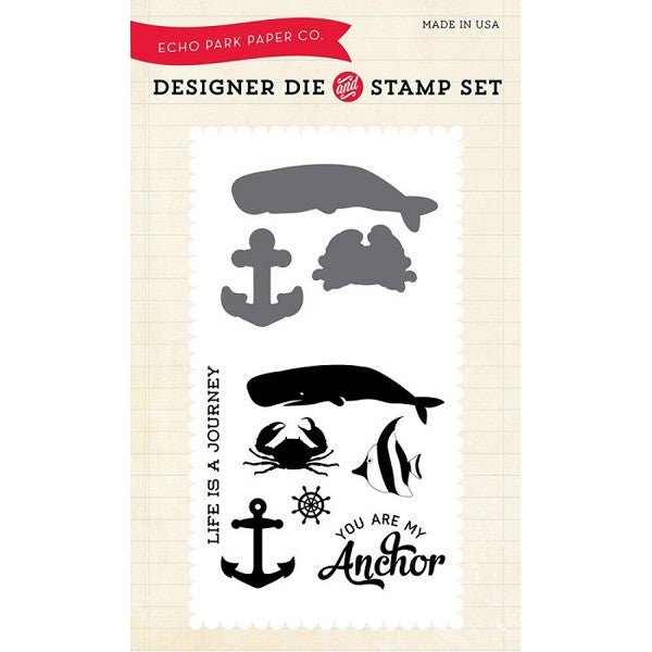 Down by the Sea Stamp and Die Set - The Heart Desires