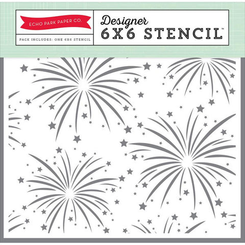 Echo Park Fireworks Stencil 6x6 - The Heart Desires