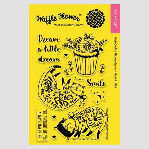 Waffle Flower Flora Cat Dream