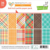 Lawn Fawn PERFECTLY PLAID FALL Petite 6x6 Paper Pack - The Heart Desires