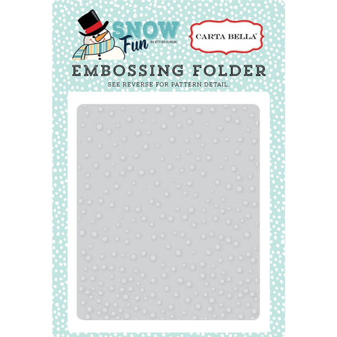 Carta Bella Falling Snow Embossing Folder - The Heart Desires