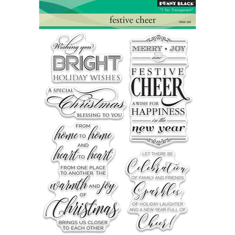 Penny Black Festive Cheer Stamp Set - The Heart Desires