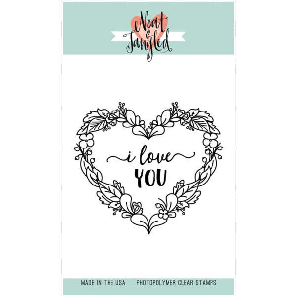 Neat & Tangled Floral Heart Stamp Set