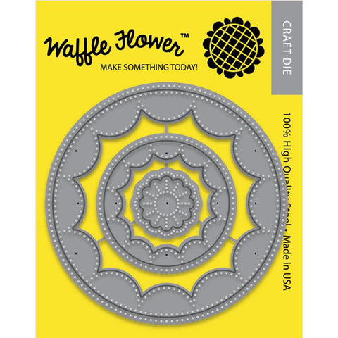 Waffle Flower Circles Inverted Dies