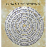 Scalloped Circle Frame Dies - GINA MARIE DESIGNS