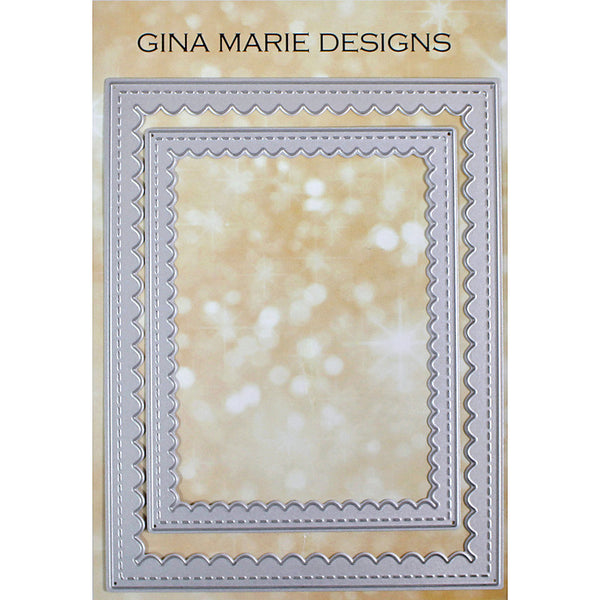 SCALLOPED STITCHED RECTANGLES DIES - GINA MARIE DESIGNS