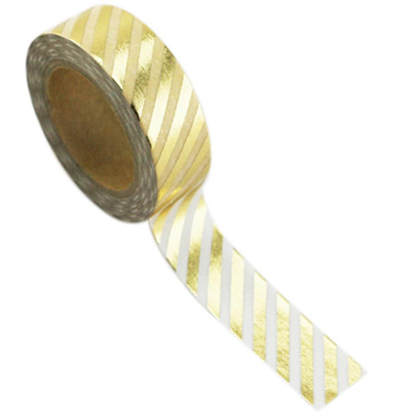 Love My Tapes Gold Stripe Foil Washi Tape - The Heart Desires