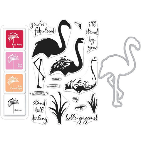 Hero Arts Color Layering Flamingo Bundle - The Heart Desires
