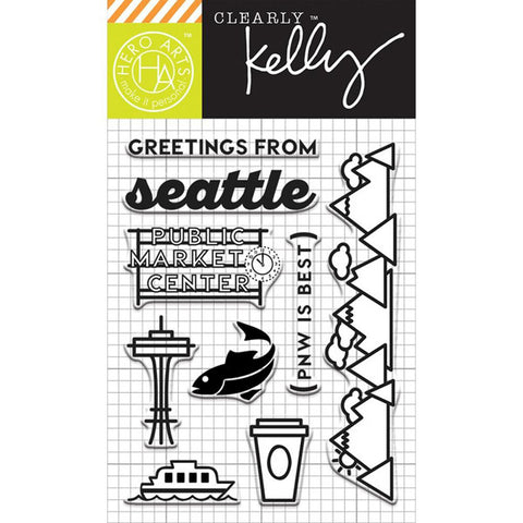 Hero Arts Kelly Purkey Greetings from Seattle - The Heart Desires