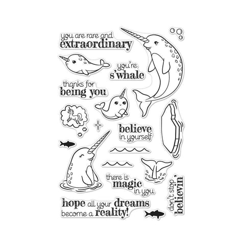 Hero Arts Believe in Yourself Narwhal Stamp Set - The Heart Desires