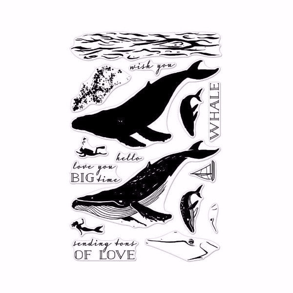 Hero Arts Color Layering Blue Whale Stamp