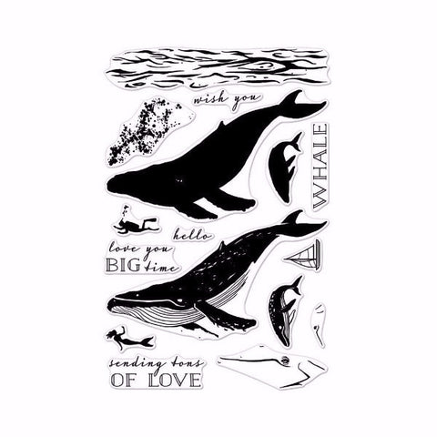 Hero Arts Color Layering Blue Whale Stamp - The Heart Desires