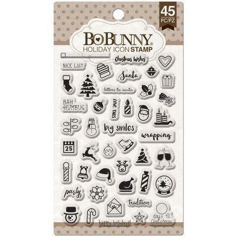 BoBunny Holiday Icon Planner Stamps