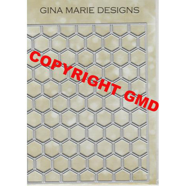 HONEYCOMB CUTTING BKGD DIE - GINA MARIE DESIGNS - The Heart Desires