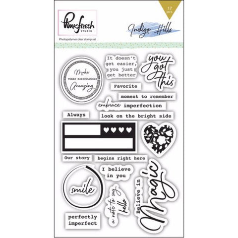 Pinkfresh Studio Indigo Hills Stamp Set