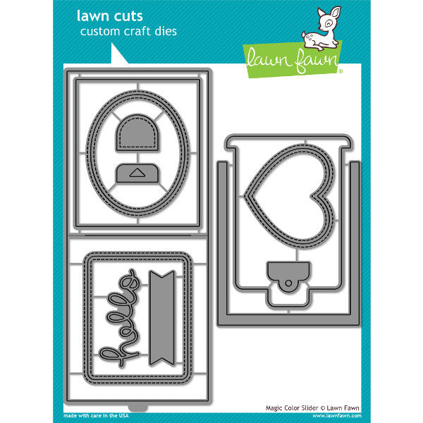 Lawn Fawn Magic color Slider Dies - The Heart Desires