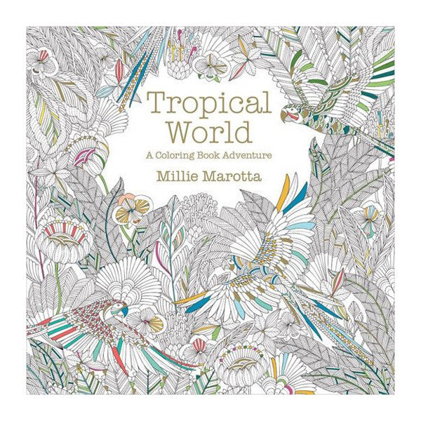 Tropical World Coloring Book - The Heart Desires