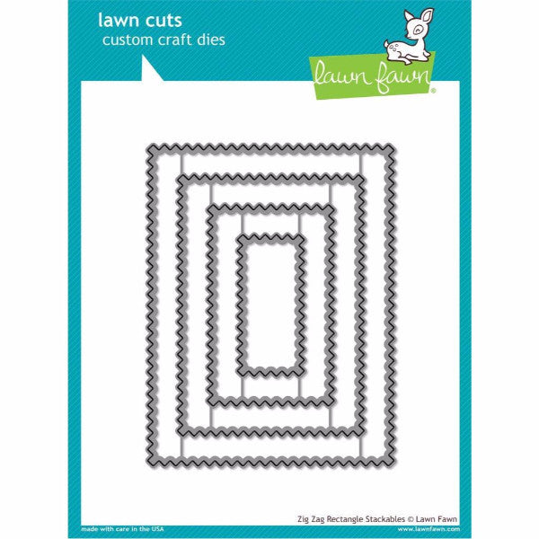Lawn Fawn Zig Zag Rectangle Stackables Dies