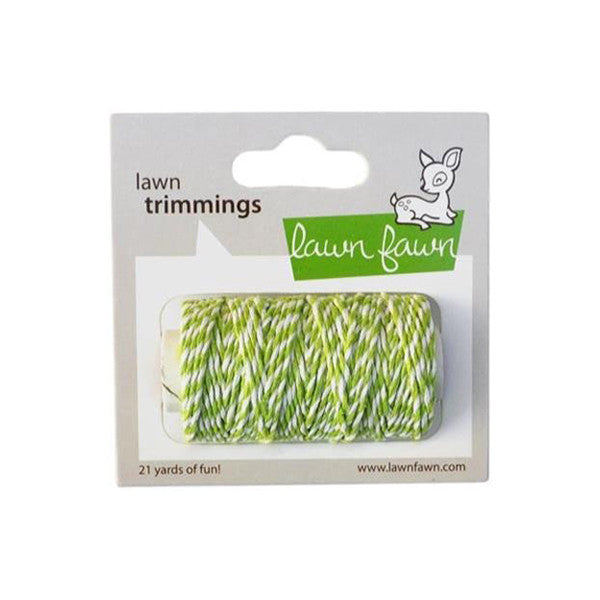 Lawn Fawn Trimming Hemp Cord Lime - The Heart Desires