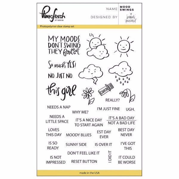 Pinkfresh Studio Mood Swings Stamp Set