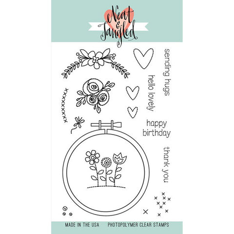 Neat & Tangled Handstitched Stamp Set - The Heart Desires