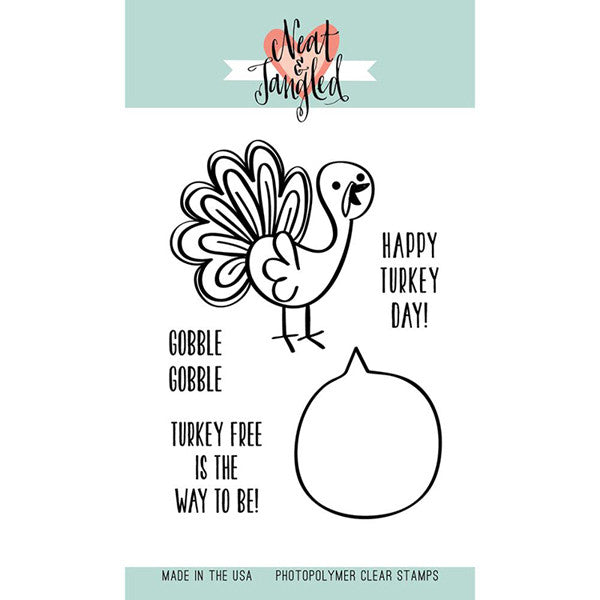 Neat & Tangled Turkey Talk Stamp Set - The Heart Desires