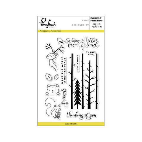 Pinkfresh Studio Forest Friends Stamp Set - The Heart Desires