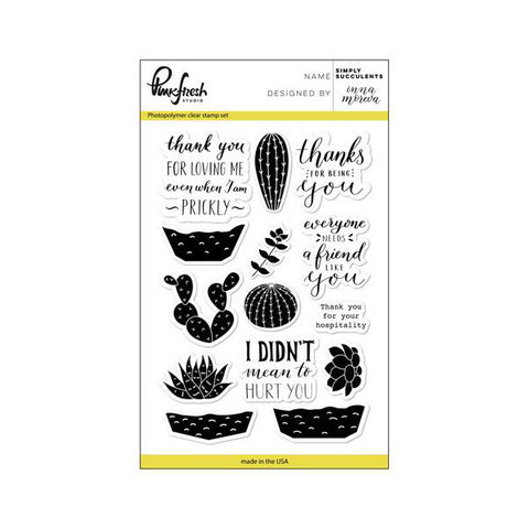 Pinkfresh Studio Simply Succulents Stamp Set - The Heart Desires