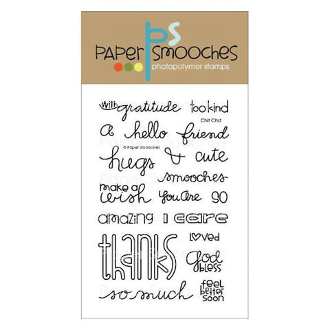 Paper Smooches Chit Chat - The Heart Desires