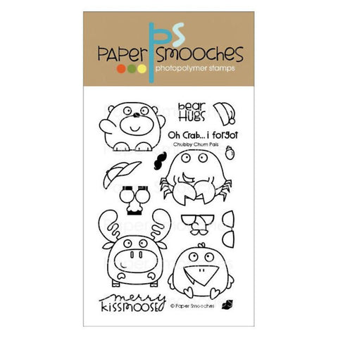 Paper Smooches Chubby Chums Pals - The Heart Desires
