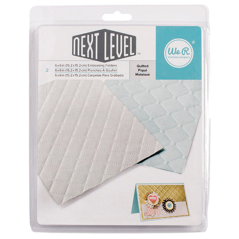 "Next Level Embossing Folders Quilted 6""X6"" 2/Pkg"