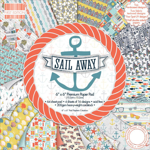 Trimcraft First Edition Sail Away Paper Pad 6x6 - The Heart Desires