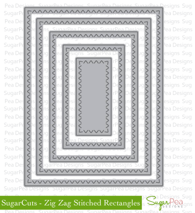 SugarPea Zig Zag Stitch Rectangles Dies - The Heart Desires