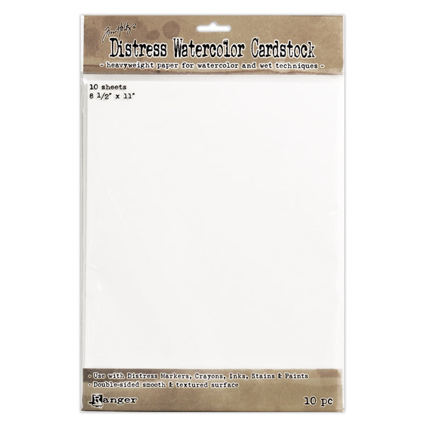 Tim Holtz Distress Watercolor Cardstock 8.5 x 11 by Ranger
