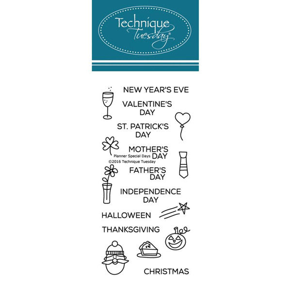 Holiday Planner Stamps
