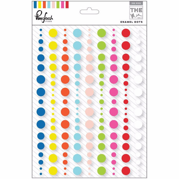 Pinkfresh Studio The Mix No 1 Enamel Dot Stickers
