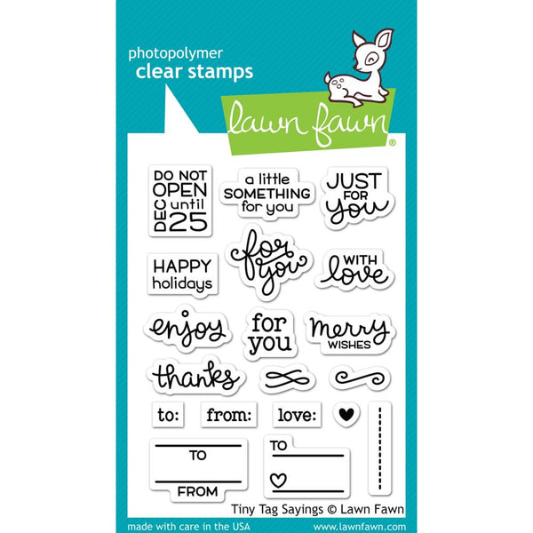 Lawn Fawn Tiny Tags Stamps - The Heart Desires