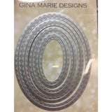 Up and Down - In and Out Stitched Oval Dies - GINA MARIE DESIGNS