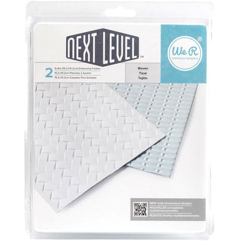 "Next Level Embossing Folders Woven 6""X6"" 2/Pkg"