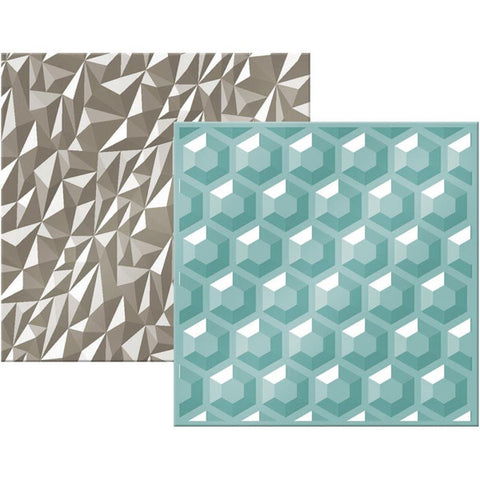 "Next Level Embossing Folders Gemstone 6""X6"" 2/Pkg - The Heart Desires"