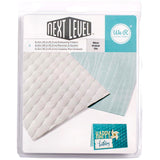 "We R Memory Keepers Next Level Embossing Folders Wave 6""X6"" 2/Pkg"