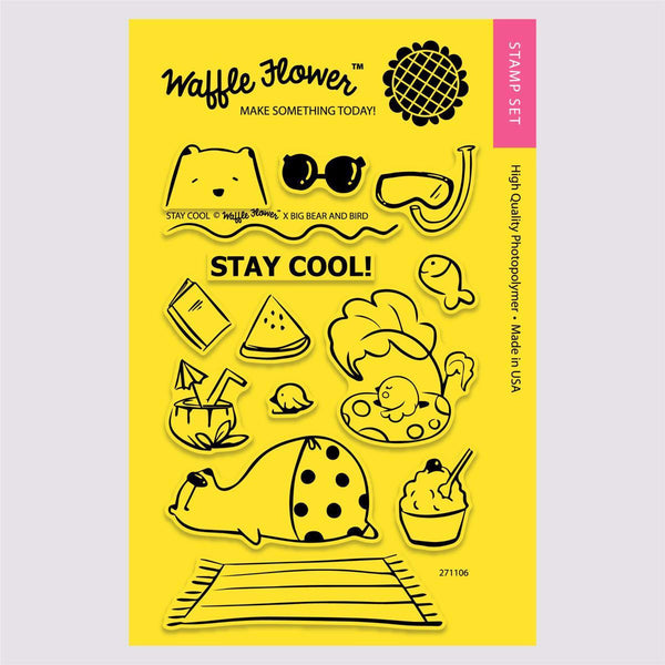 Waffle Flower Stay Cool Stamp Set
