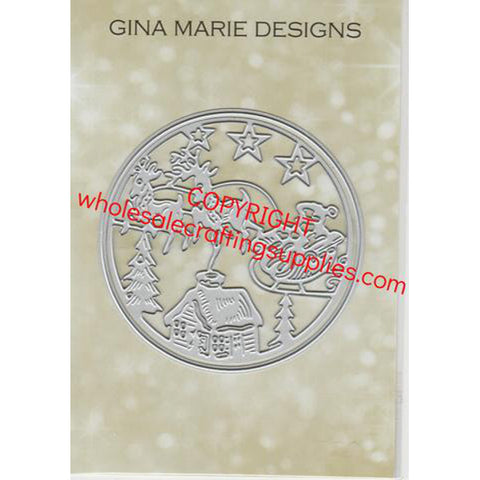 CUT IN CUT OUT SANTA SLEIGH SCENE DIE SET - GINA MARIE DESIGNS