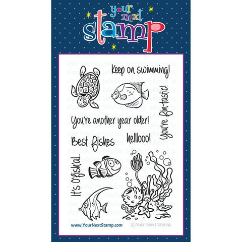 Your Next Stamp Fishy Fun - The Heart Desires