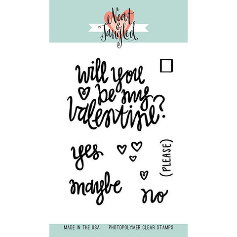 Neat & Tangled Be My Valentine Stamp Set - The Heart Desires