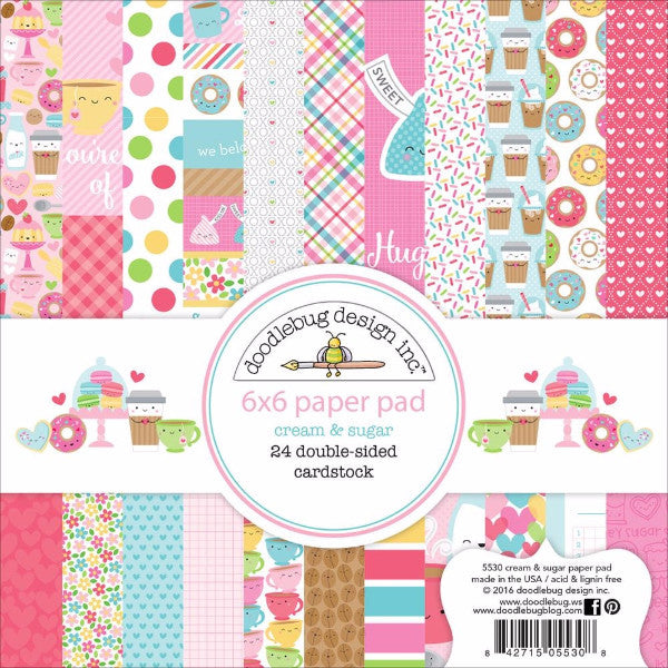 Doodlebug Cream and Sugar 6x6 Paper Pad - The Heart Desires