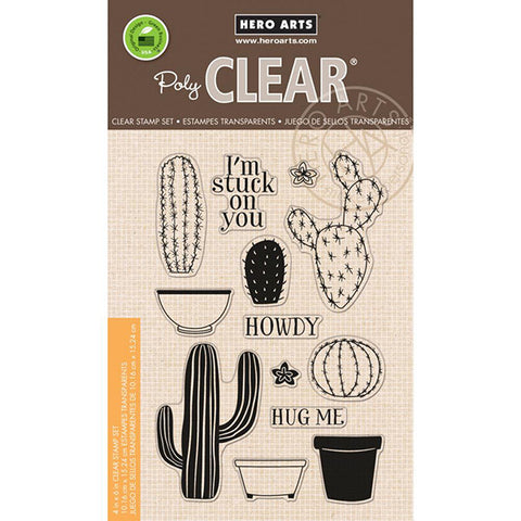 Hero Arts Stamp Your Own Cactus - The Heart Desires
