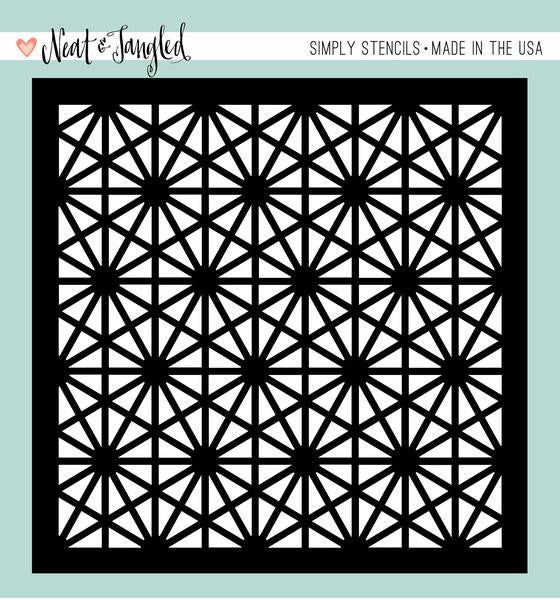 Neat & Tangled Hexastar Stencil 6x6 - The Heart Desires