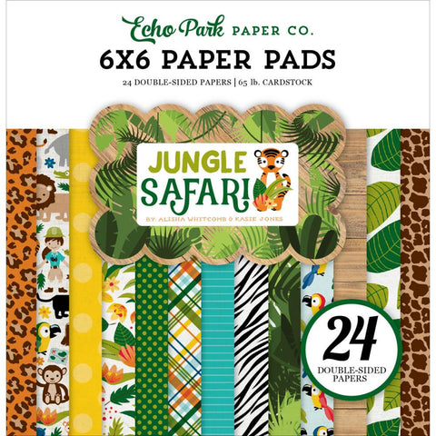 Echo Park Jungle Safari 6x6 Paper Pad - The Heart Desires