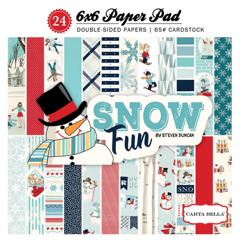 Carta Bella Snow Fun 6x6 Paper Pad - The Heart Desires